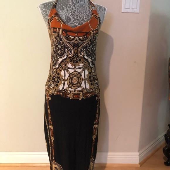 Cache Dresses & Skirts - Beautiful cache midi dress with Versace print.